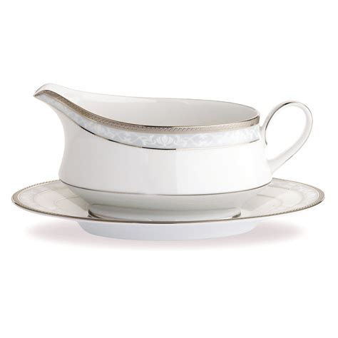 round saucer boat noritake hshire platinum dinner set 8 place with