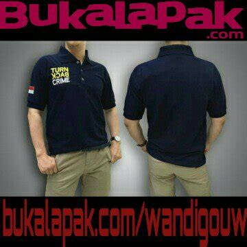 Kaos Topi Tbc jual polo turn back crime tbc belakang polos big