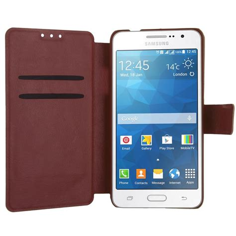 Grand Prime G530 Luxury Mirror Hello Stand Holder Limited flip fashion leather cover skin for samsung galaxy
