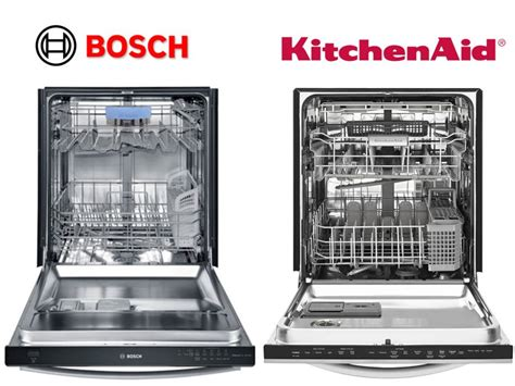 Kitchenaid Vs Bosch Comparing Kitchenaid Dishwashers To Bosch Dishwashers