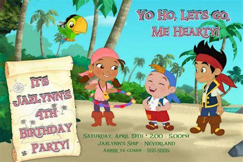 printable birthday invitations jake and the neverland pirates jake the neverland pirates custom birthday invitation