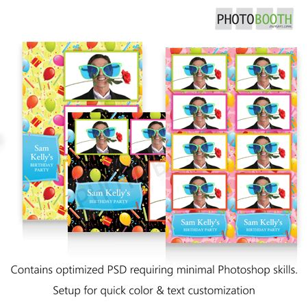 darkroom booth templates birthday confetti photo booth templates photoboof