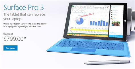 Dan Spesifikasi Microsoft Surface 2 spesifikasi dan harga tablet microsoft surface pro 3 gt gt ulasan segala macam gadget dan handphone