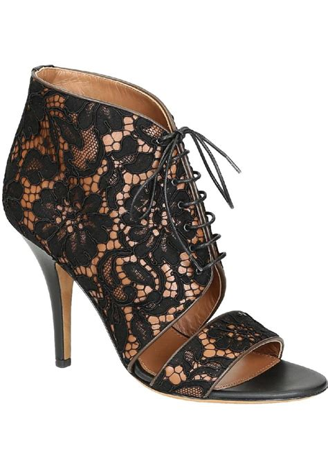 black lace high heel shoes givenchy high heel black lace fabric sandals shoes