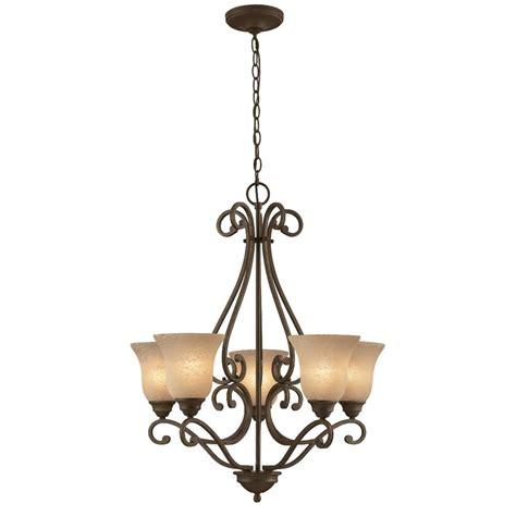 portfolio 6 light chandelier shop portfolio 5 light linkhorn iron chandelier at