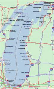 Michigan Lakes Map by Gallery For Gt Lake Michigan Map