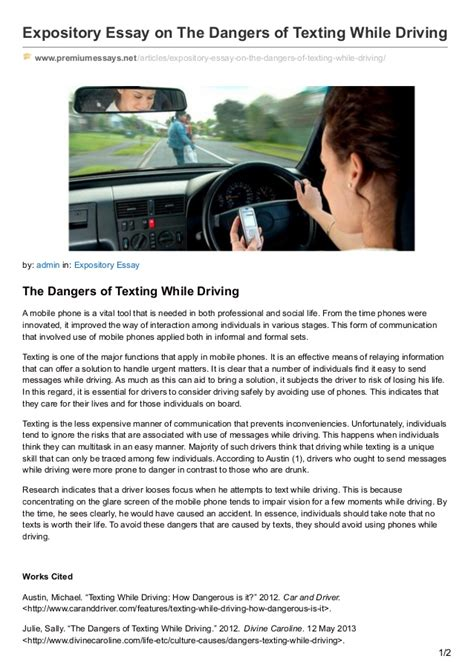 Driving Prevention Essay by Thesis Statement Texting While Driving Article Immigrantsessay Web Fc2
