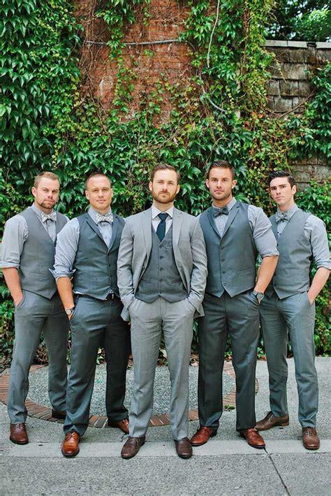 Wedding Attire For Groomsmen by 17 Best Ideas About Groomsmen Attire Grey On