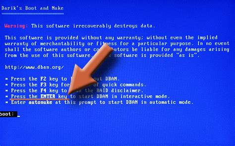 how to securely wipe your drive with dban erase