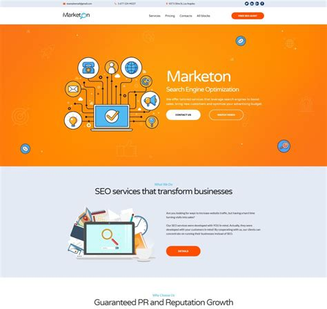 Business Landing Page Template 66383 Templates Com Angularjs Landing Page Template
