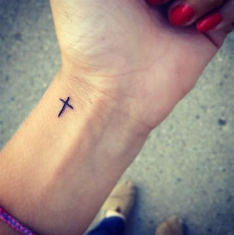 tattoo cross on wrist pinterest discover and save creative ideas