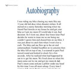 Exle Of A Biography Essay by Autobiography Creative Writing Gcse Marked By Teachers