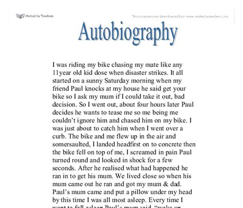 autobiography writing template autobiography exle for scholarship myideasbedroom