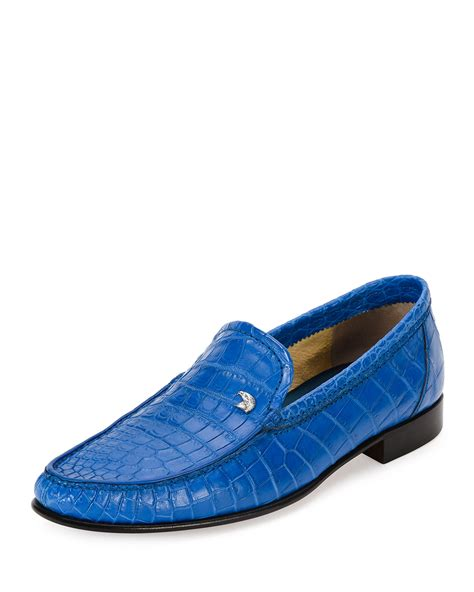 crocodile leather loafers stefano ricci classic crocodile leather loafer in blue for
