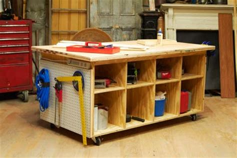 how to make a tool bench workbench plans this old house woodproject