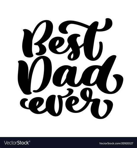 happy fathers day qoute isolated happy fathers day quotes on the white vector image