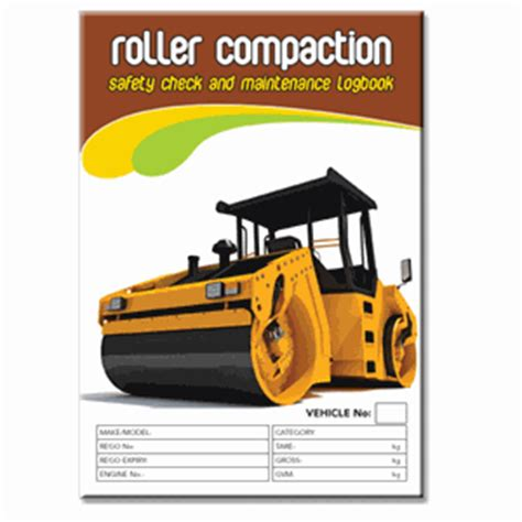 Background Check After Starting Roller Compaction Safety Check Logbook Buy Commercial Logbook Personalised