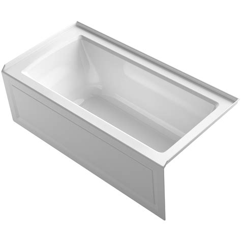 kohler archer 60 quot x 30 quot alcove bathtub with integral apron