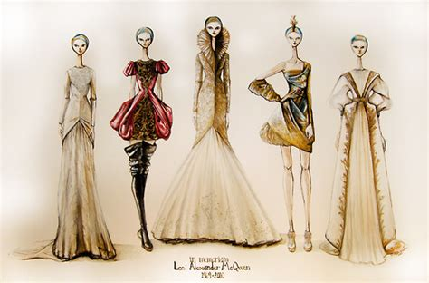 fashion illustration mcqueen pin mcqueen fashion illustration sketches image on