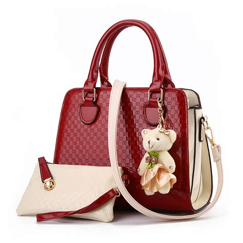 popular patent leather handbag buy cheap patent leather handbag lots from china