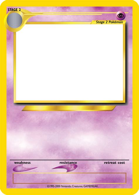 tcg card template speed tcg blanks neo jumbo stage 2 by icycatelf on