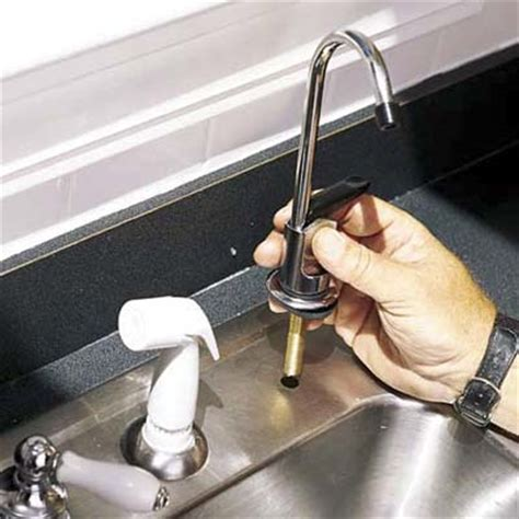 Water Filter Faucet Installation by Install The Filter Faucet How To Install A Water Filter