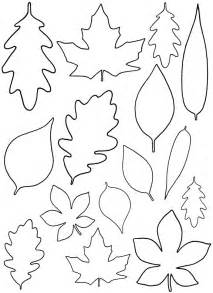 Template Leaves by Diy Paper Leaves Free Leaf Template