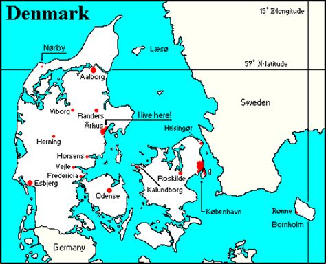 germany denmark map map of denmark and germany