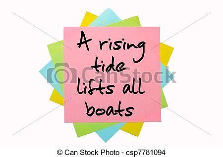 a rising tide lifts all boats en francais stock photo of text quot a rising tide lifts all boats