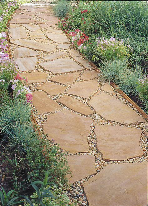 installing a flagstone path sunset