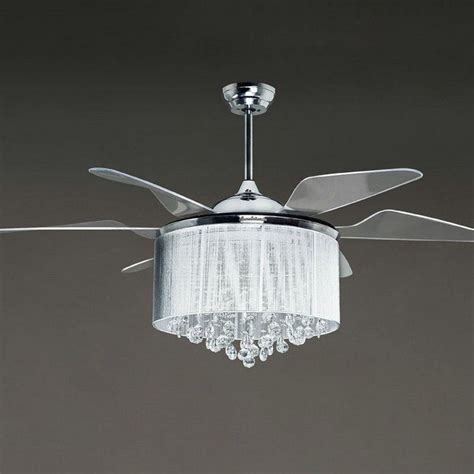 ceiling fans with crystals the attractive chandelier fan decoration for any rooms