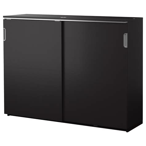 ikea doors cabinet galant cabinet with sliding doors black brown 160x120 cm