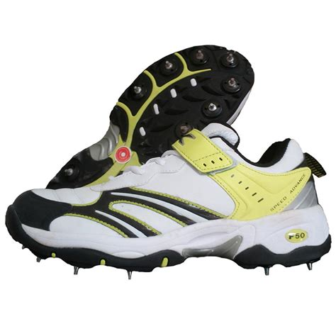 spike shoes for tk f50 spike cricket shoes white and lime buy tk
