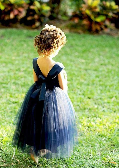 Robe Tulle Mariage - robe de mariage enfant en tulle bleu robe mariage enfant