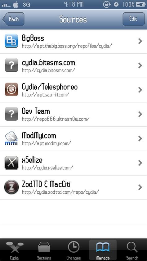 game mod cydia repo recommended cydia repositories sources for tweaks apps