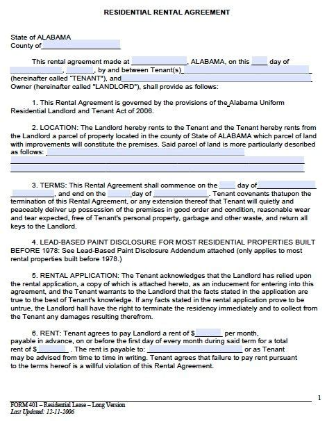 Lease Agreement Cover Letter printable sle rental lease agreement templates free form real estate forms word