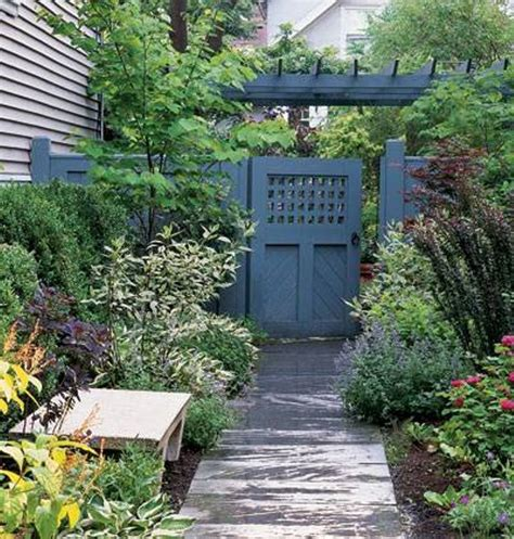 landscaping and outdoor building backyard wooden gate