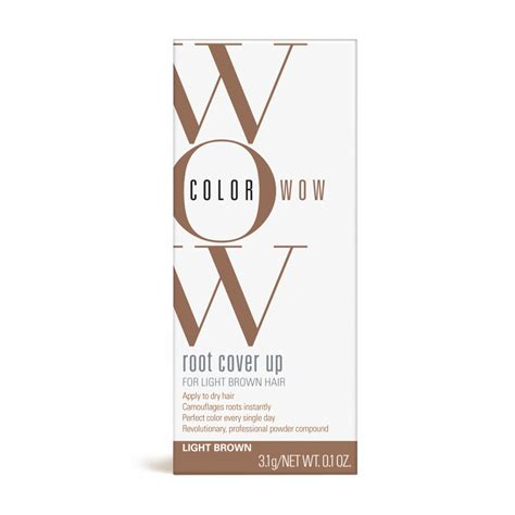 color wow light brown root cover up light brown color wow
