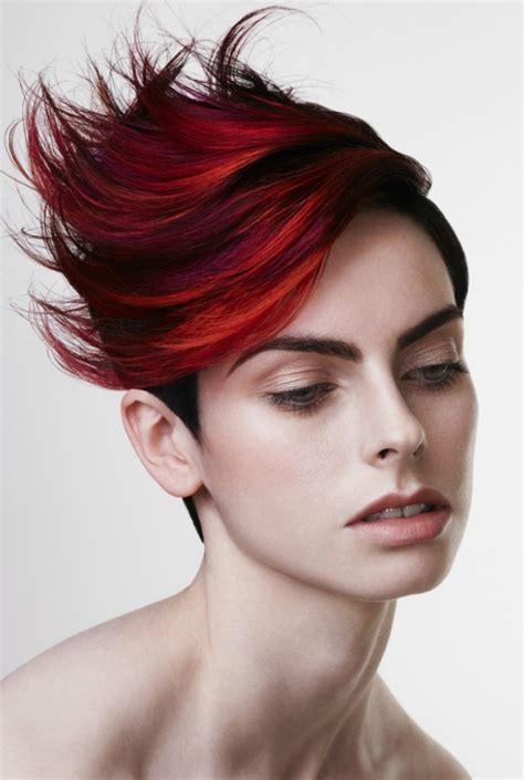 punk hairstyles color punk chic hair color ideas 2012