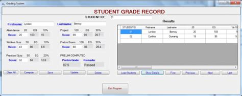 Grading Machine simple grading system using c free source code