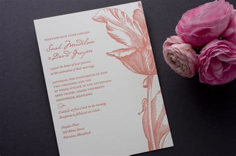 tulip wedding invitations parrot tulip wedding invitations invitation crush