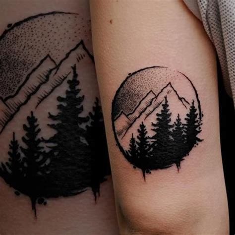 tree and mountain tattoo best 25 alaska ideas on