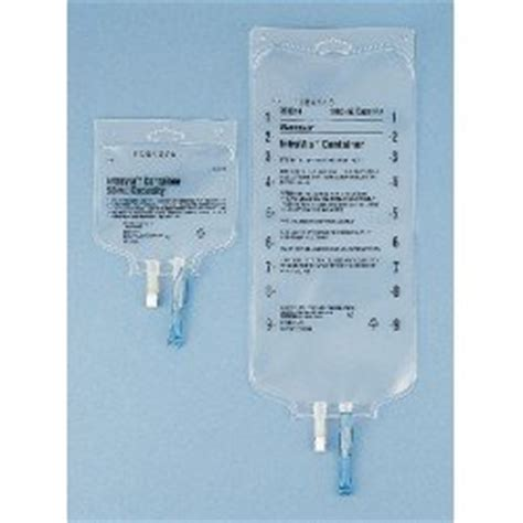 baxter empty intravia container with pvc ports sterile