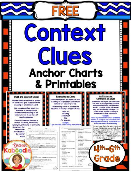 Ideas About Context Clues Printable Worksheets Easy - 153 best 5th grade activities and ideas images on