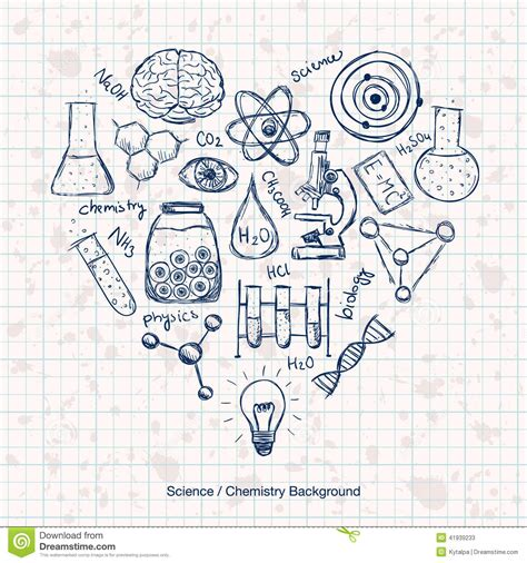 the practice and science of drawing books chemistry science background stock vector image 41939233