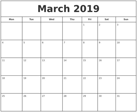 printable calendar april 2018 to march 2019 march 2019 print free calendar