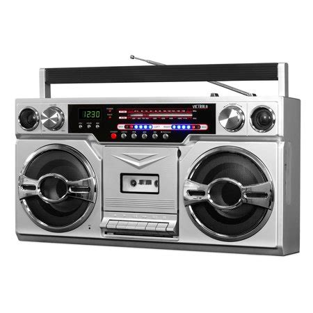 cassette player boombox victrola 1980 s bluetooth boombox with cassette player and