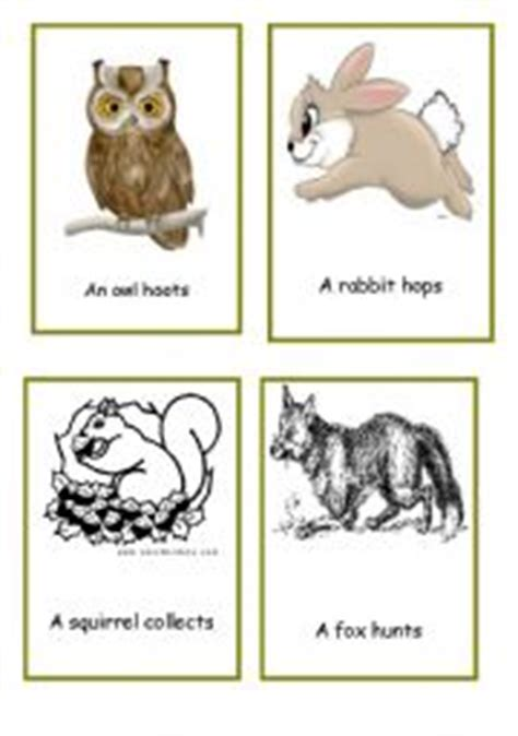 printable animal action cards english teaching worksheets actions