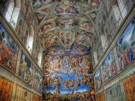 ceiling of the sistine chapel in rome by miguel