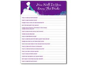 bridal shower questions how well do you the groom 3 how well do you the shower personalized
